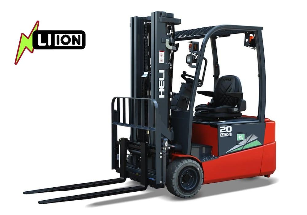 G2 three wheel lithium battery forklift truck-1