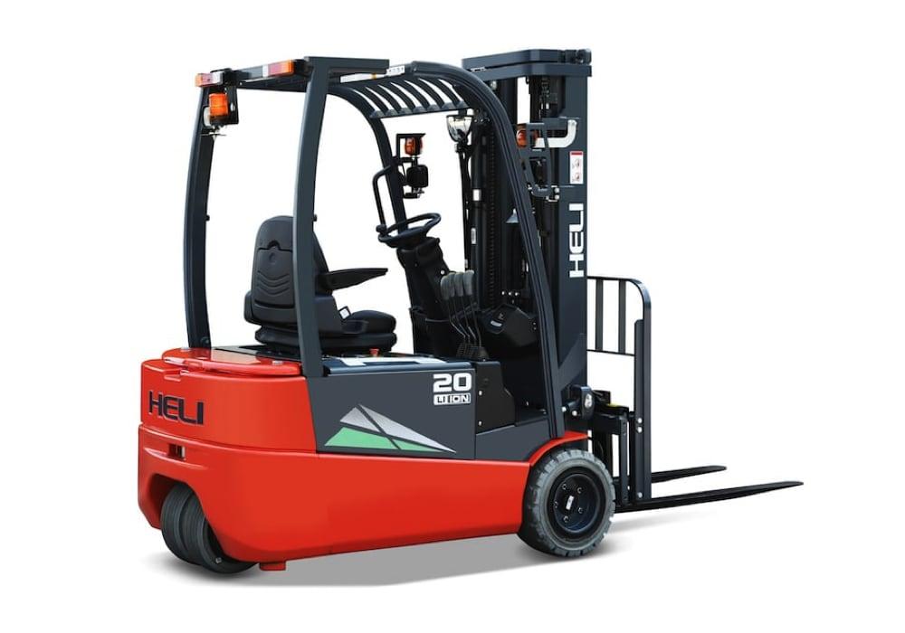 G2 three wheel lithium battery forklift truck-bg1-1000